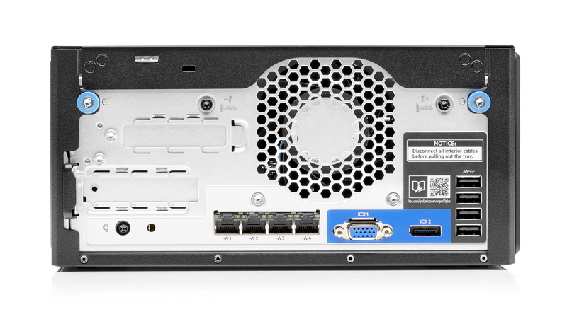 HPE MircoServer Gen10 Plus Rear